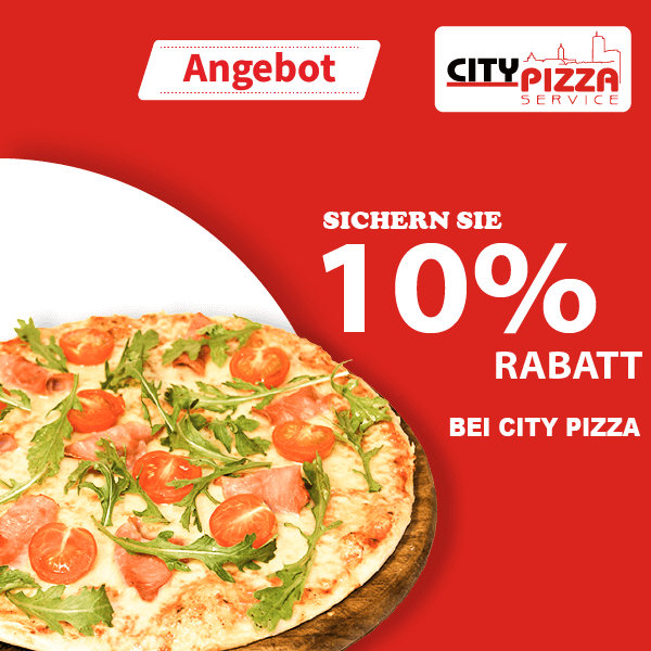City Pizza Jena 10% Rabatt